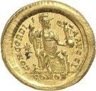 Solidus - Théodose II (CONCORDIA AVGG, Constantinople) – revers