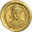 Solidus - Théodose II (SALVS REIPVBLICAE, Constantinople) – avers