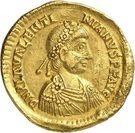 Solidus - Valentinien III (VICTORIA AVGGG, Ravenne) – avers