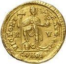 Solidus - Valentinien III (VICTORIA AVGGG, Ravenne) – revers