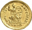 Solidus - Théodose Ier (CONCORDIA AVGGGG, Constantinople) – revers