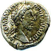 Commodus denarius – avers