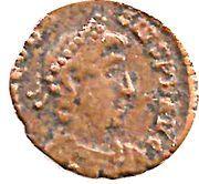 Nummus - Theodosius I (SALVS REI-PVBLICAE; Nicomedia) – avers