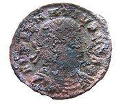 Follis - Delmace (GLORIA EXERCITVS, un seul étendard, Thessalonique) – avers
