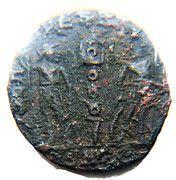 Follis - Constantin II (GLORIA EXERCITVS, un seul étendard, Héraclée) – revers