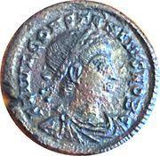 Follis - Constance II (GLORIA EXERCITVS, un seul étendard, Nicomédie) – avers