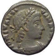 Follis - Constance II (GLORIA EXERCITVS, un seul étendard, Alexandrie) – avers