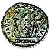Follis - Constant Ier (GLORIA EXERCITVS, un seul étendard, Antioche) – revers