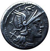 Denarius (M. Atilius Saranus) – avers
