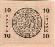 10 Pfennig (10 Pfennig (Kreisstadt Rofenberg; West Prussia) – revers