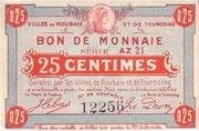 25 centimes - Villes de Roubaix et de Tourcoing [59] – avers