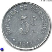 5 Centimes Chambre de Commerce de Rouen [76] – revers