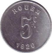 5 centimes - Ligue des Commerçants Rouennais - Rouen [76] – revers
