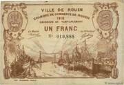 1 franc - Ville et Chambre de Commerce de Rouen [76] -  avers