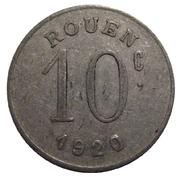 10 centimes - Ligue des Commerçants Rouennais - Rouen [76] – revers