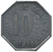 10 Centimes Chambre de Commerce de Rouen [76] – revers