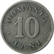 10 bani - Carol I – revers