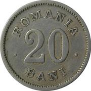 20 Bani - Carol I – revers