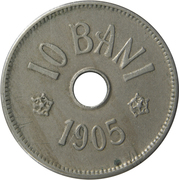 10 bani (Carol I) – revers