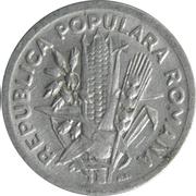 2 lei (République populaire) – avers