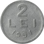 2 lei (République populaire) – revers
