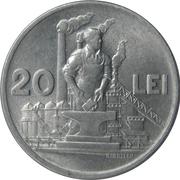 20 Lei (République populaire) – revers