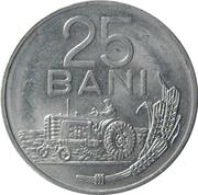 25 bani (République socialiste, aluminium) -  revers