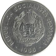 25 bani (République socialiste, nickelé) -  avers