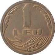 1 leu (République) -  revers