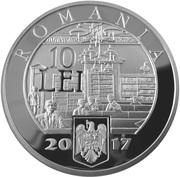 10 Lei (Bibliothèque de l'Académie roumaine) – avers