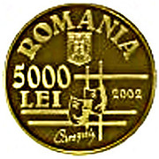 5000 Lei (Ion Luca Caragiale) – avers