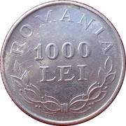 1000 Lei - Essai – revers