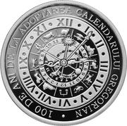 10 Lei (100 years since Romania adopted the Gregorian calendar) – revers
