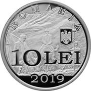 10 Lei (Emmanuel de Martonne) – avers