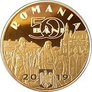 50 Bani (King Ferdinand I the Unifier) -  avers