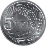 5 Lei (Mihai I) – revers