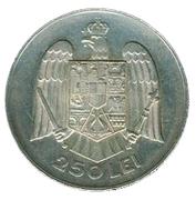 250 lei (Carol II) – revers