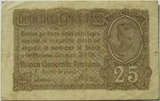 25 Bani (BGR - German Occupation) – avers
