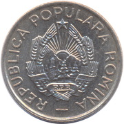 10 bani (République populaire) – avers