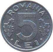 5 lei (République) -  revers