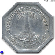 25 centimes - Société des Commerçants - Royan [17] – avers