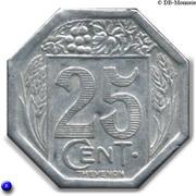 25 centimes - Société des Commerçants - Royan [17] – revers