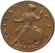 ½ penny George II (1ère effigie) – revers