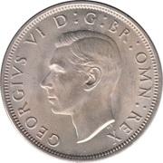 "½ couronne George VI (cupronickel, avec ""IND:IMP"") -  avers"
