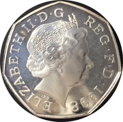 50 Pence - Elizabeth II (NHS Anniversary) - Silver Proof -  avers