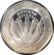 50 Pence - Elizabeth II (NHS Anniversary) - Silver Proof -  revers