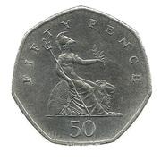50 pence Elizabeth II (3e effigie, petit module, cupronickel) -  revers