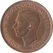 "1 penny George VI (avec ""IND:IMP."") -  avers"