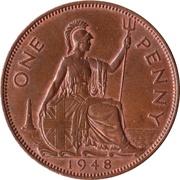"1 penny George VI (avec ""IND:IMP."") -  revers"