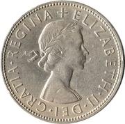 "½ couronne Elizabeth II (1ère effigie, sans ""BRITT:OMN:"") -  avers"